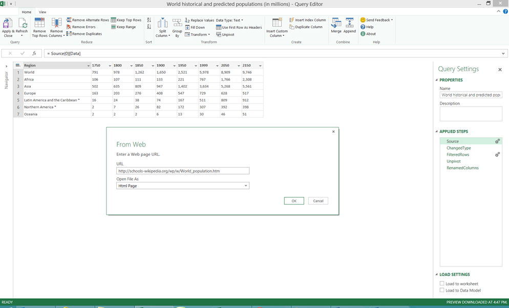 How to load Power Query directly into Power Pivot business – Power to a Power Worksheet