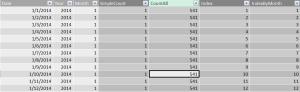 Adding an Index Column to a Power Pivot Model using EARLIER