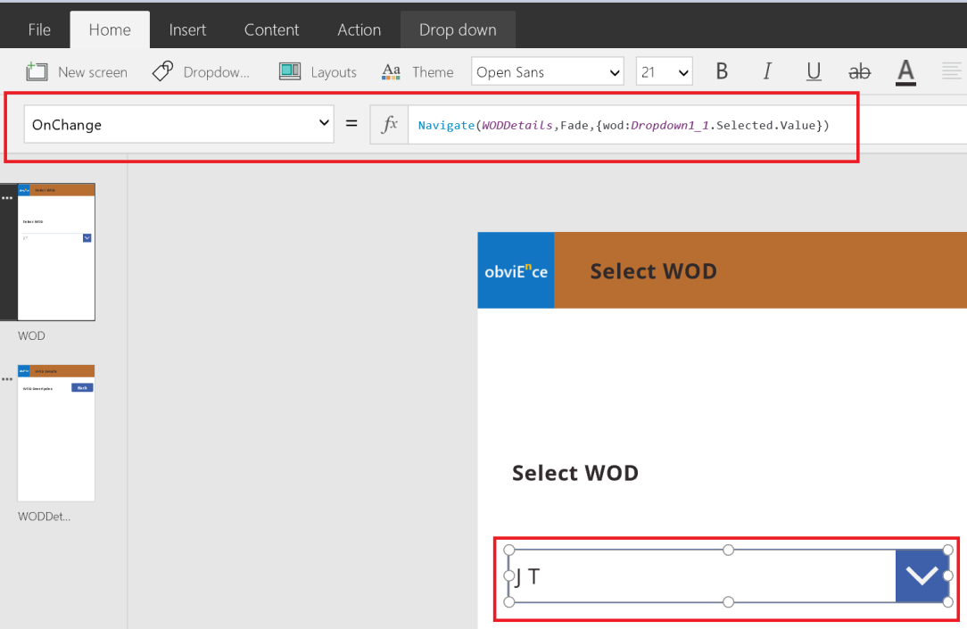 PowerApps – Passing values between screens – business