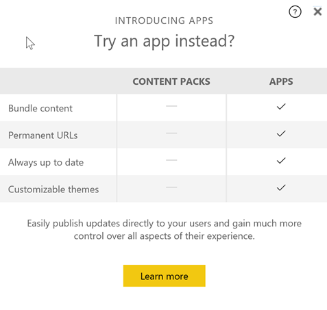 Content Packs vs Power BI App – business intelligist